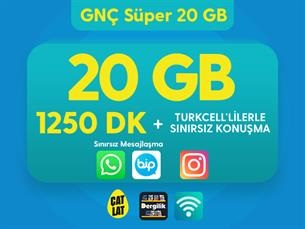 Satın Al GNÇ Süper 20 GB Kampanyası