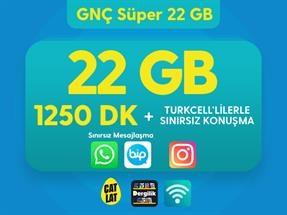 GNÇ Süper 22 GB Kampanyası
