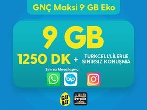 GNÇ Maksi 9 GB Eko Kampanyası
