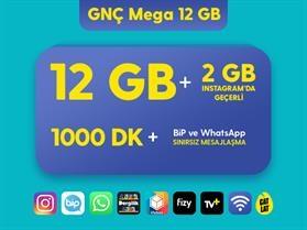 GNÇ Mega 12 GB Paketi