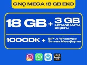Satın Al GNÇ Mega 18 GB Eko Kampanyası