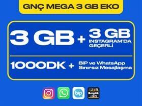 GNÇ Mega 3 GB Eko Paketi