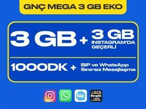 GNÇ Mega 3 GB Eko Kampanyası
