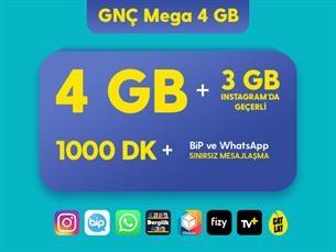 Satın Al GNÇ Mega 4 GB Eko Kampanyası
