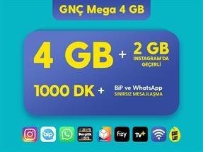 GNÇ Mega 4 GB Kampanyası
