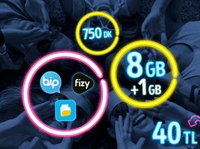 GNÇ Full 8 GB Kampanyası