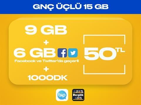 GNÇ Üçlü 15GB