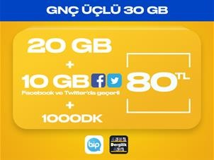 GNÇ Üçlü 30GB