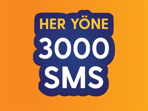 Her Yöne 3000 SMS Paketi