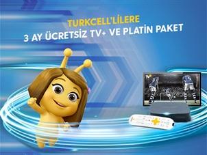 Turkcell'lilere 3 Ay Ücretsiz TV+ ve Platin Paket Kampanyası