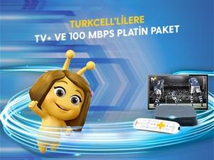 Turkcell'lilere TV+ ve 100 Mbps Platin Paket Kampanyası