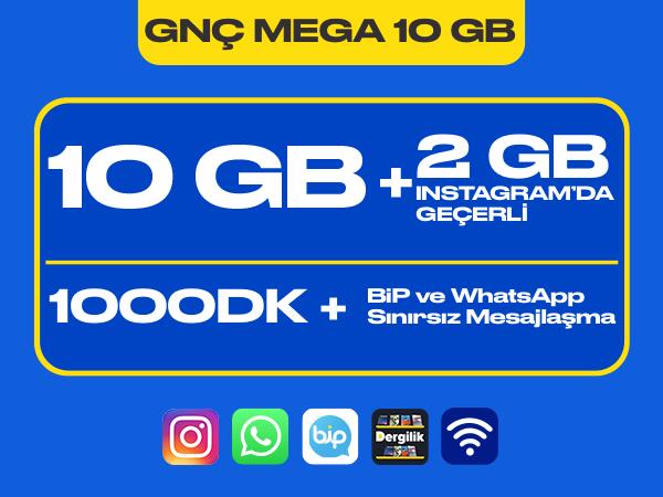 GNÇ Mega 10 GB Paketi