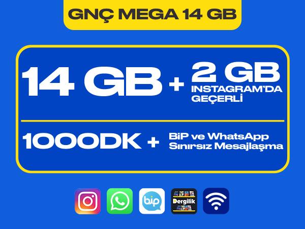 GNÇ Mega 14 GB Paketi