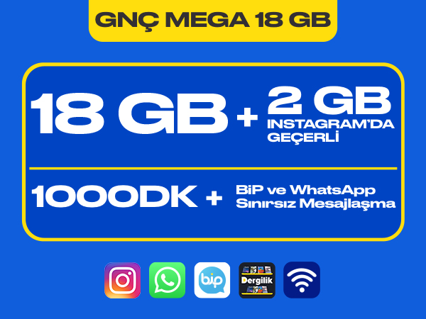 GNÇ Mega 18 GB Paketi