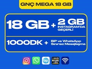 Satın Al GNÇ Mega 18 GB Kampanyası