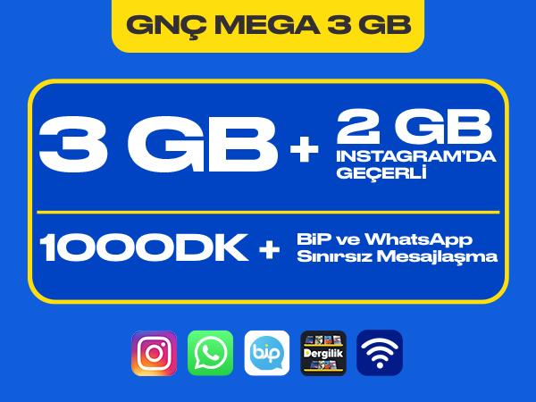 GNÇ Mega 3 GB Paketi