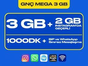 GNÇ Mega 3 GB Kampanyası