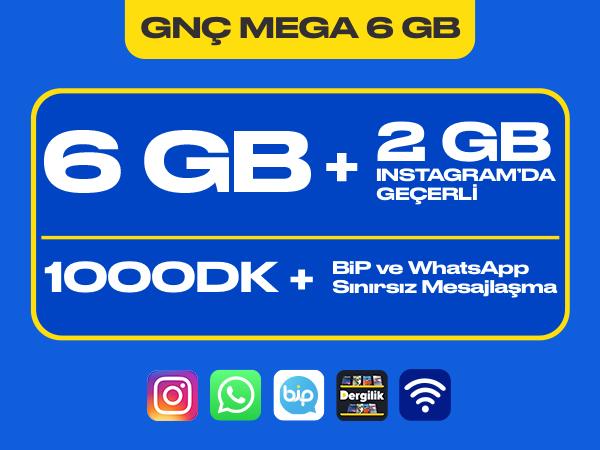 GNÇ Mega 6 GB Paketi