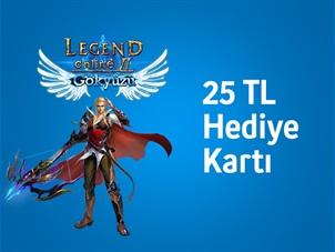 Oasis Games Legend Online'da Turkcell Mobil Ödeme'ye özel 25 TL değerinde hediye kartı!