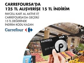 Paycell Kart CarrefourSA 15 TL İndirim Kodu Kampanyası