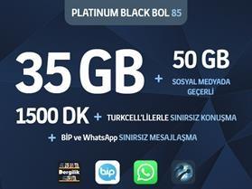 Platinum Black Bol 85 Paketi