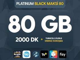 Platinum Black Maksi 80