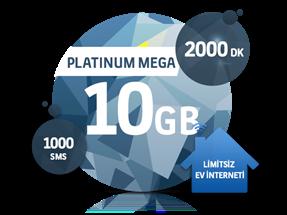 Dört Dörtlük Paketler Platinum Mega 10 GB