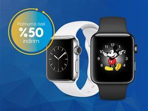 Platinum'a Özel Apple Watch Seri 2 Çelik Kasa %50 İndirim Kampanyası