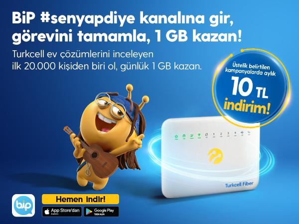 #SenYapDiye Turkcell Fiber Avantajı Kampanyası