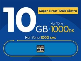 Süper Fırsat 10GB Ekstra