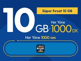 Süper Fırsat 10GB