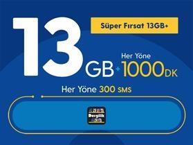 Süper Fırsat 13GB+