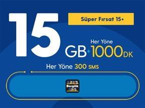 Süper Fırsat 15GB+