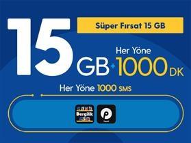 Süper Fırsat 15GB