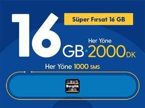 Süper Fırsat 16GB Yıllık Abonelik Kampanyası