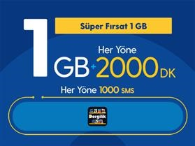 Süper Fırsat 1GB