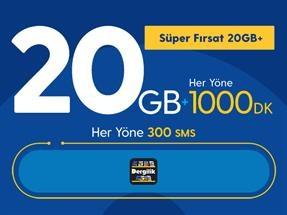 Süper Fırsat 20GB+ Yıllık Abonelik Kampanyası