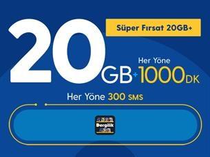 Satın Al Süper Fırsat 20GB+ Yıllık Abonelik Kampanyası