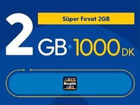 Süper Fırsat 2GB