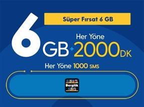 Süper Fırsat 6GB Yıllık Abonelik Kampanyası
