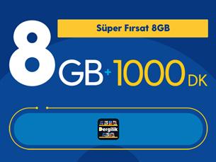 Satın Al Süper Fırsat 8GB Yıllık Abonelik Kampanyası
