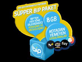 Süpper Bip 8GB Yıllık Abonelik Kampanyası