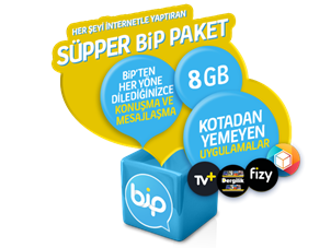 Süpper BiP 8 GB Yıllık Abonelik Kampanyası