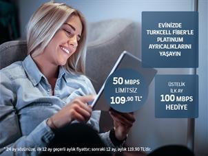 Turkcell Fiber 50 Mbps Platin Paketler