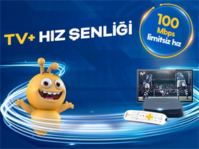 TV+ ve Turkcell Fiber 100 Mbps Hız Şenliği Kampanyası