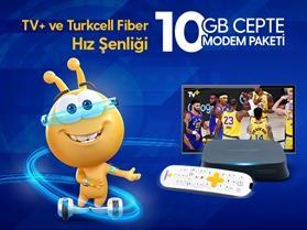 TV+ Ve Turkcell Fiber Hız Şenliği 10 GB Cepte Modem Paketi Kampanyası