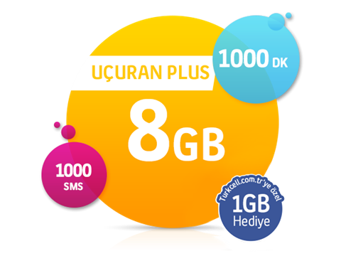 Uçuran 8 GB Plus Paketi