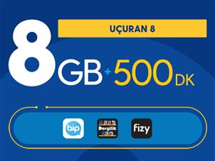 Uçuran 8 GB Paketi