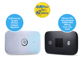 4.5G Uyumlu VINN WiFi Kampanyası