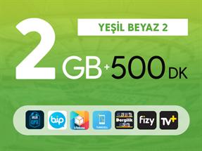 Yeşil Beyaz 2GB